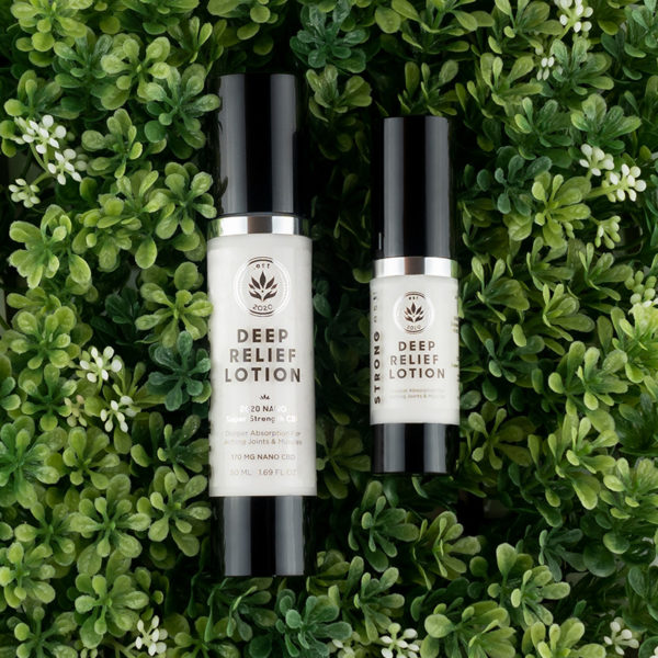 Look for the STRONG.est, FAST.est, DEEP.est pain relief! The STRONG.est Deep Relief line of pain relief lotions by .est 2020 Luxury Skincare. Our Deep Relief Lotion features NANO emulsified CBD which goes deeper into layers of the skin.