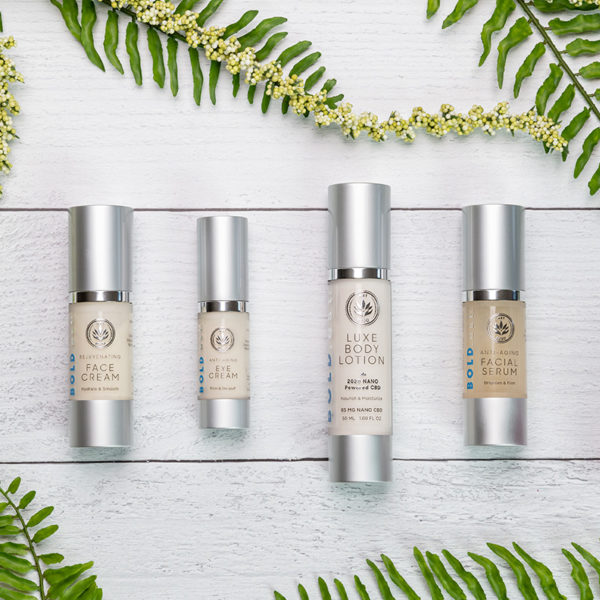 Our BOLD.est line of skincare products from .est 2020 Luxury Skincare includes: Luxe Body Lotion, Anti-Aging Face Serum, Rejuvenating Face Cream and Anti-Aging Eye Cream. Enjoy hydrated skin with anti-aging ingredients from head to toe!
